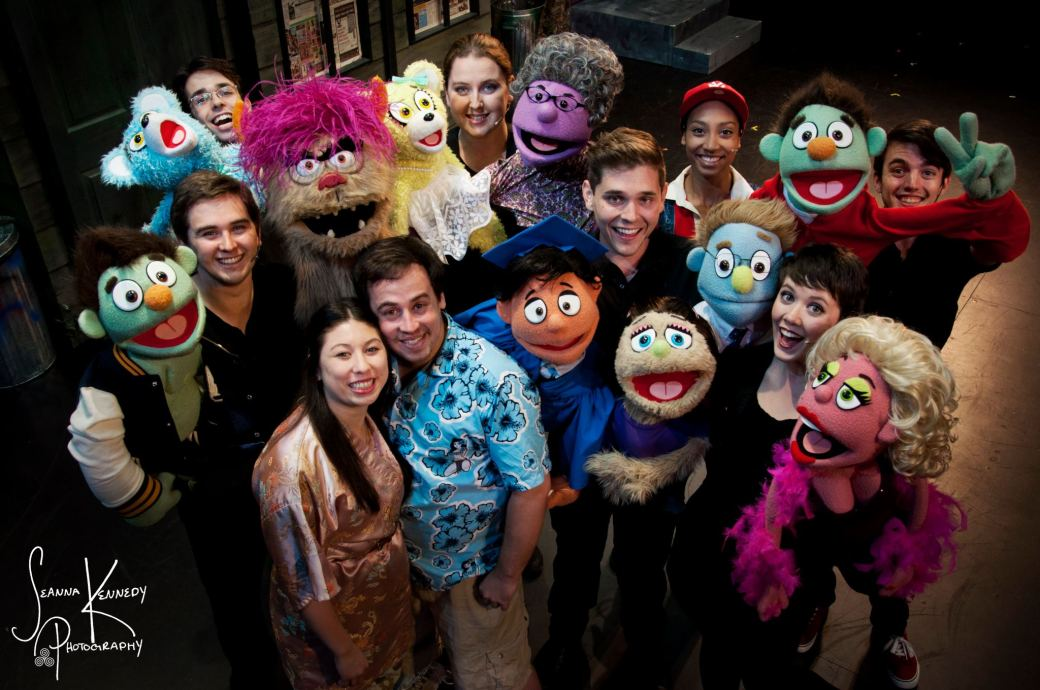 My final Avenue Q cast. Photo by Seanna Kennedy.