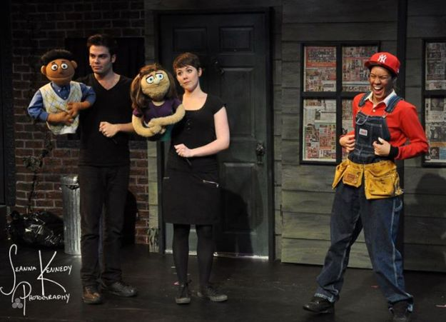 Adam Proulx as Princeton, myself as Kate Monster, Jazz Testolini as Gary Coleman