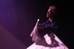 Acting (and puppeteering) as The Little Prince in Puzzle Piece's stage adaptation. Photo: Barry McCluskey